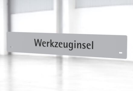 Beschriftungsset Werkzeuginsel zur Montage am Gestell der apra-lean Produkte