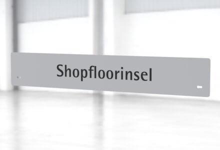 Beschriftungsset Shopfloorinsel zur Montage am Gestell der apra-lean Produkte