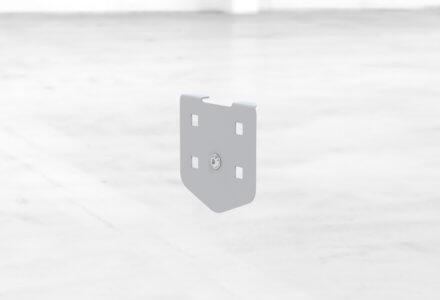 B0-Rasterplatte zur seitlichen Befestigung am Gestell