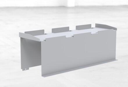 Fachbodeneinlage zur übersichtlichen und erhöhten Anordnung der Materialien