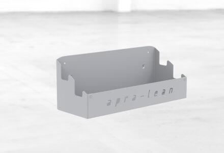 Ablagefach zum Einhängen in Rasterbleche der apra-lean Produkte