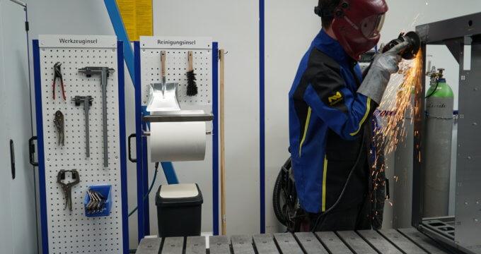 Anwendung von apra-lean Produkten in der industriellen Fertigung
