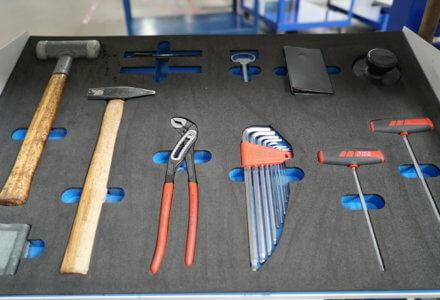 Anwendung Werkzeugfachboden